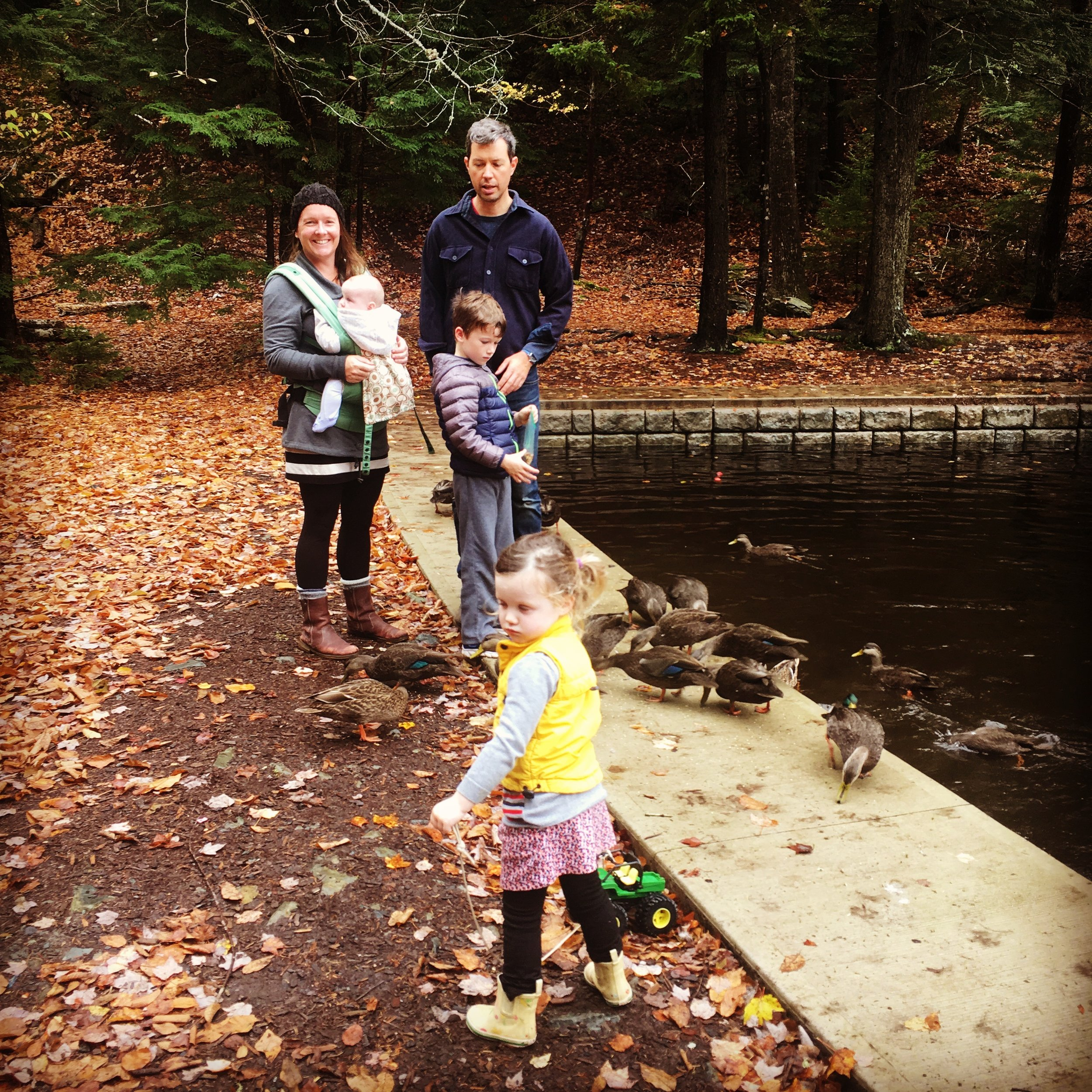 Family walk at the heart-shaped pond (Image courtesy of the Swick/McCrossin Famiy)