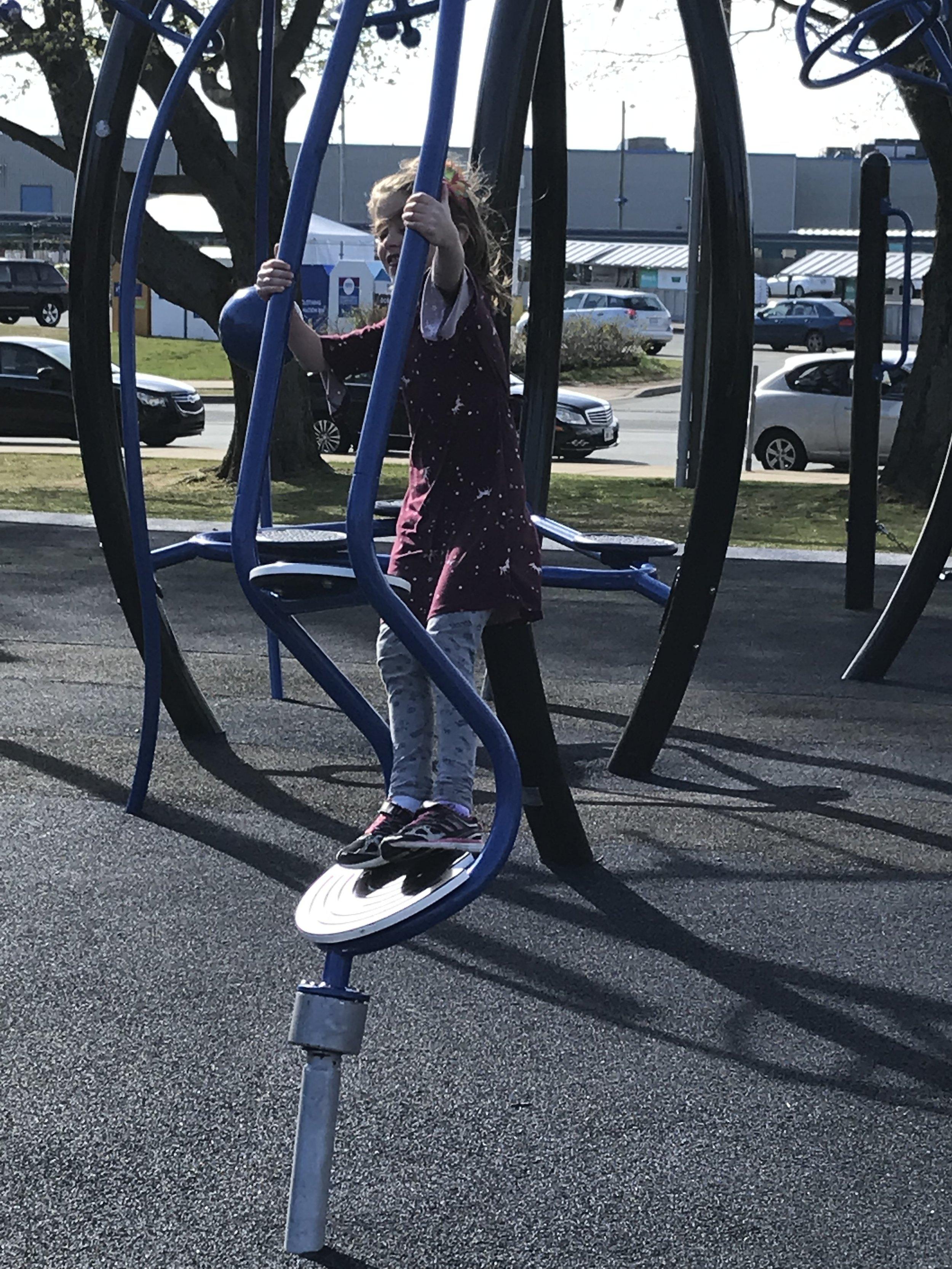 Train Playground Spinner