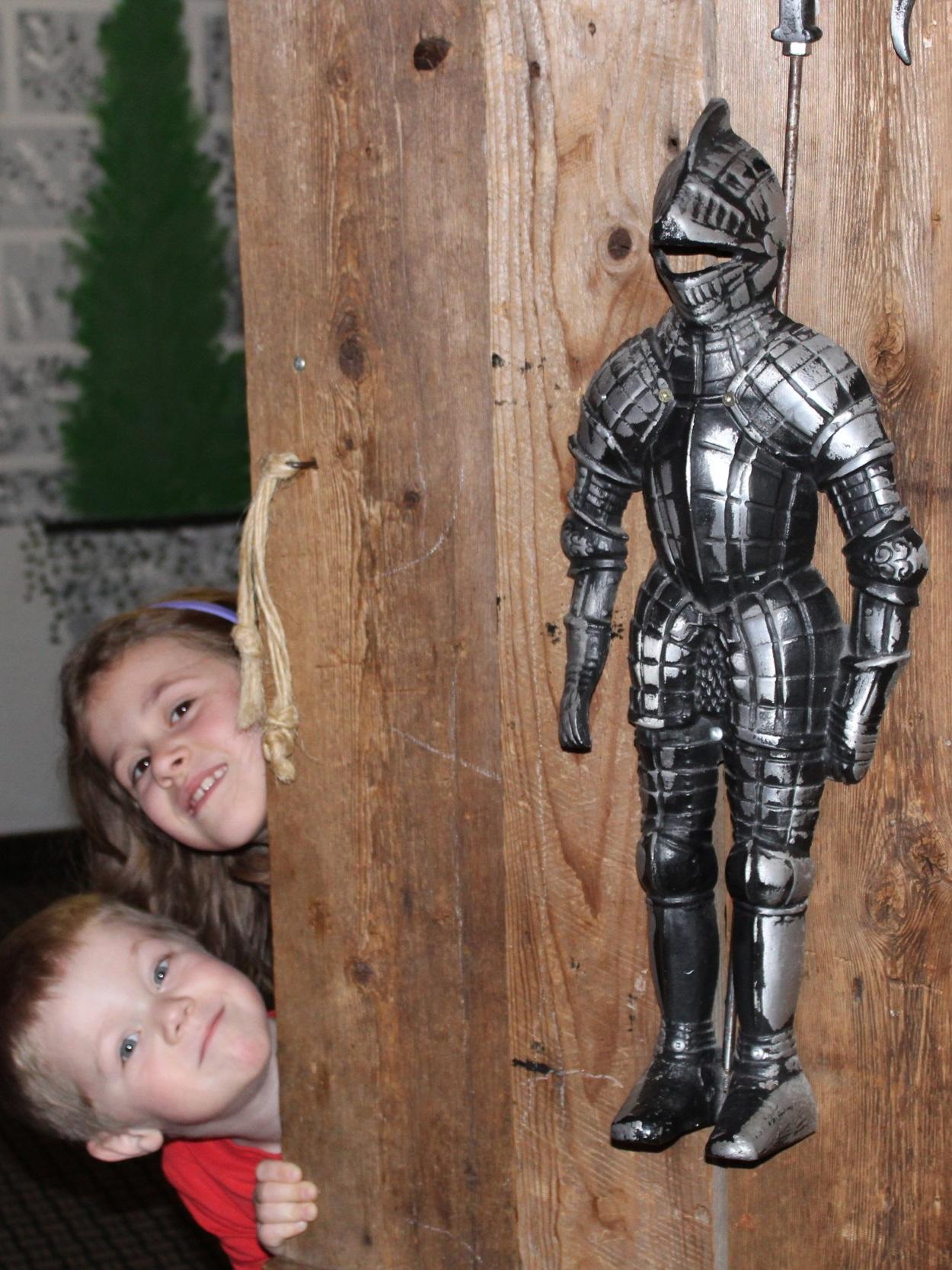 Door into kids alcove