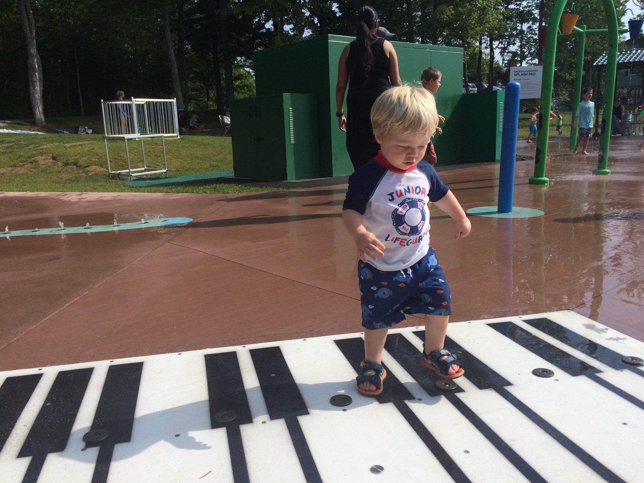 Sackville Splash Pad piano