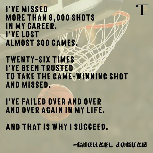 Experienced #Failure ? here's some #MondayMotivation . #MichaelJordan