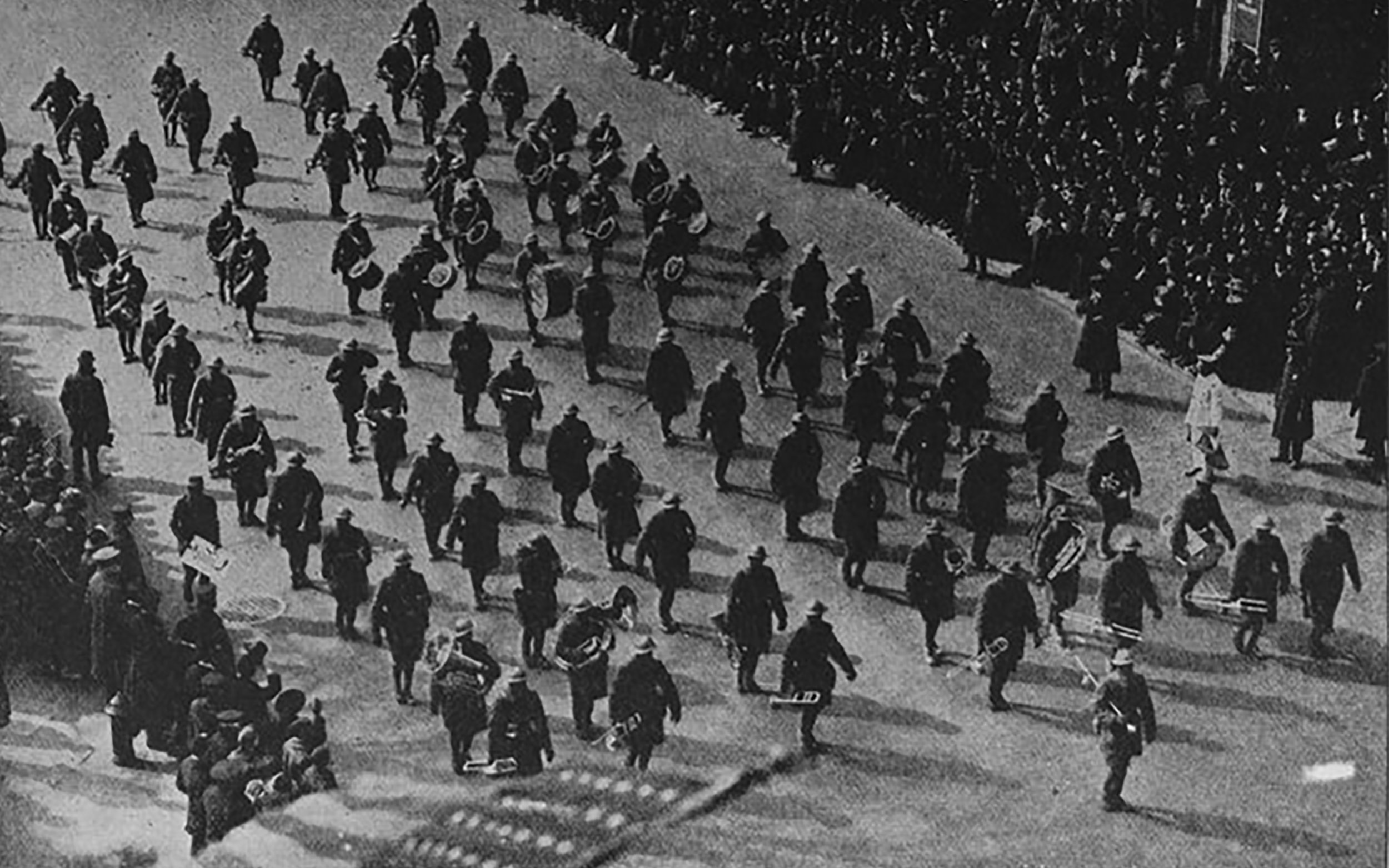 Hellfighters Band Marches in Harlem 1919 Library of Congress