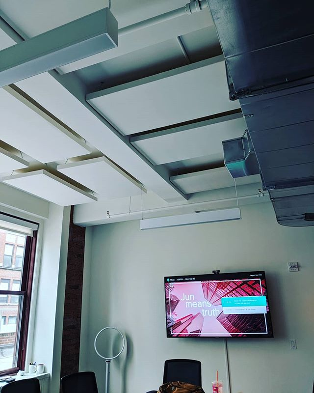 Do you have an office that has unusable conference rooms because the echo is that bad? Contact us to find out how we can help. #acoustic #panel #acousticpanel #acousticcurtains #echo #reverb #office #conferenceroom #conference #conferencecall #newyork #nyc #manhattan #Brooklyn #queens #lic #restaurant #bar #eventspace
