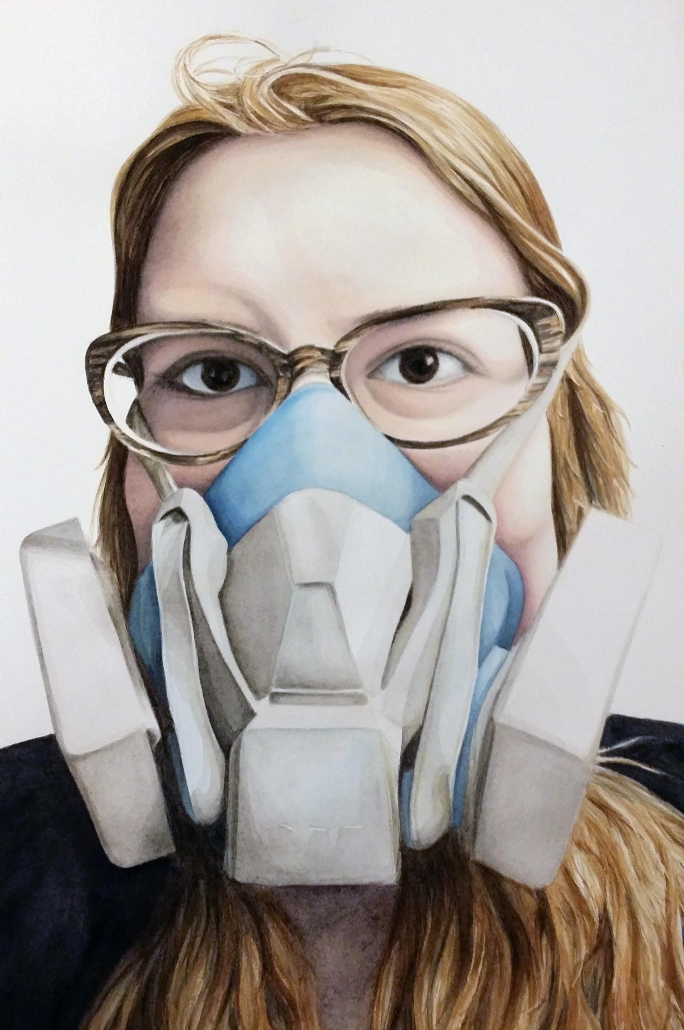 Self Portrait (2016) 15 in x 22 in, Watercolor