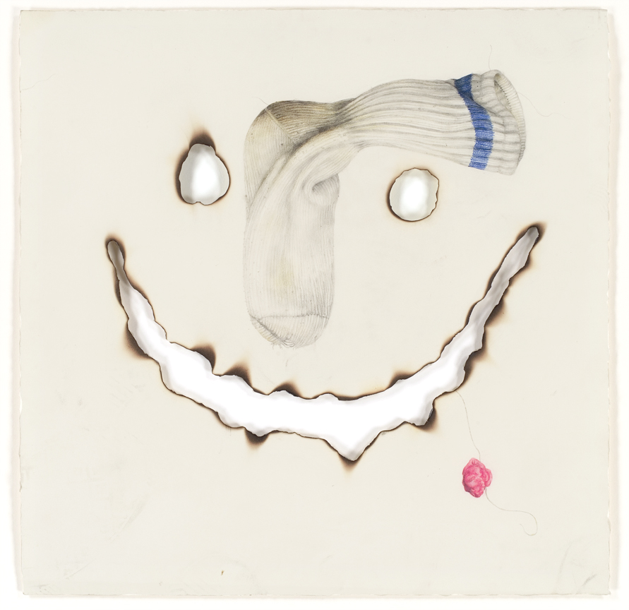"""""""Stink Face"""" pencil, colored pencil on paper, 15"""" x 15"""", 2007"""