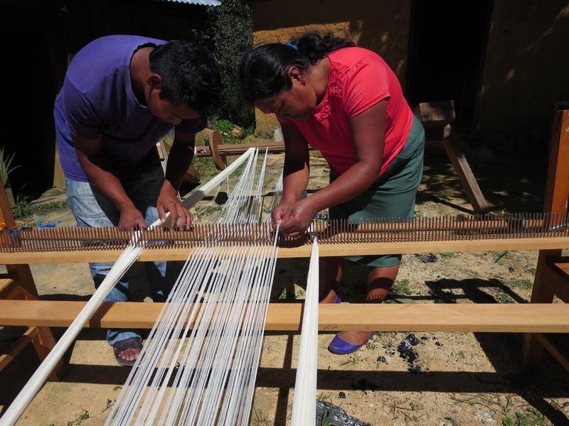 preparing to weave