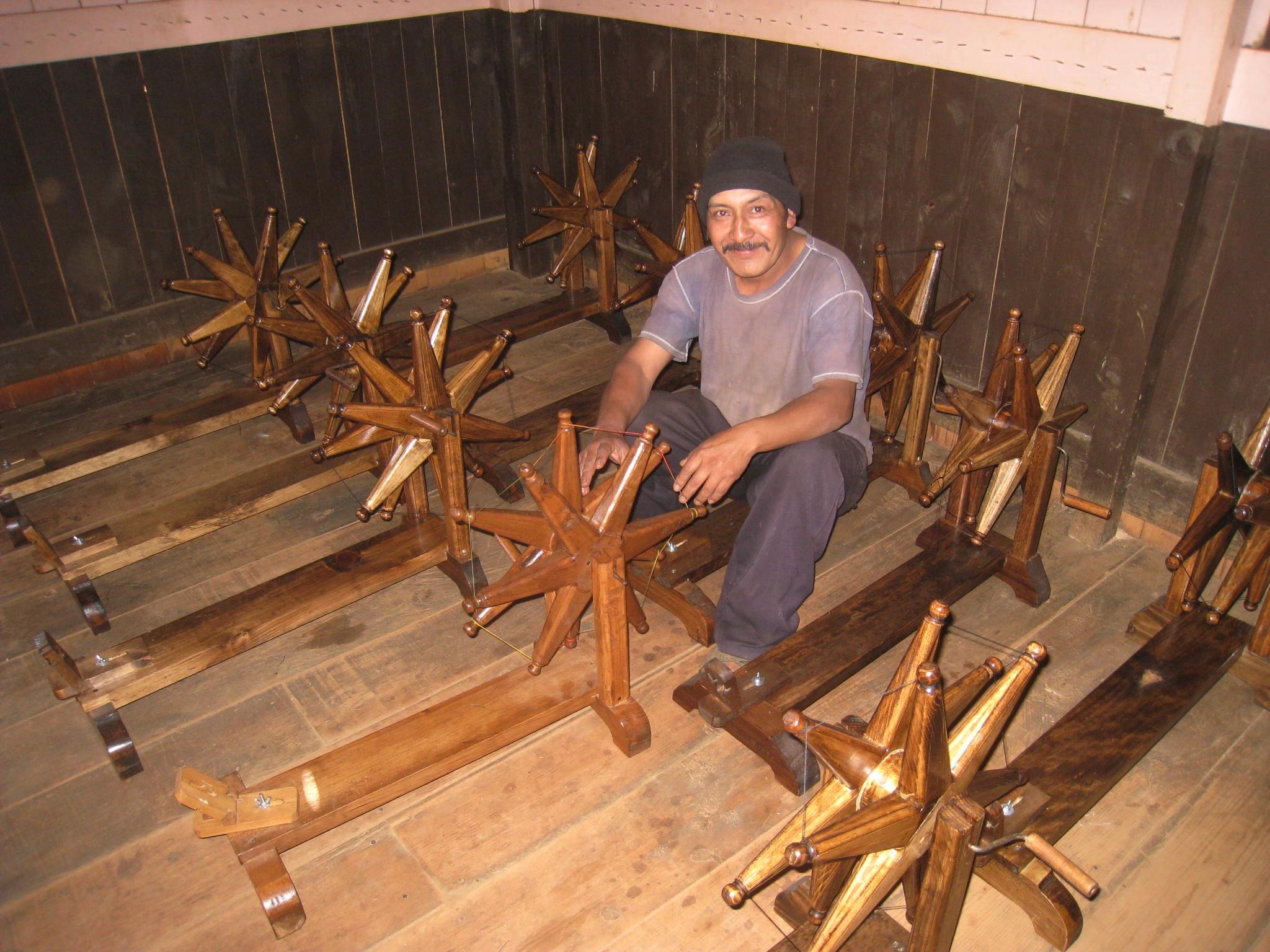 Spinning wheel created by Ghandi