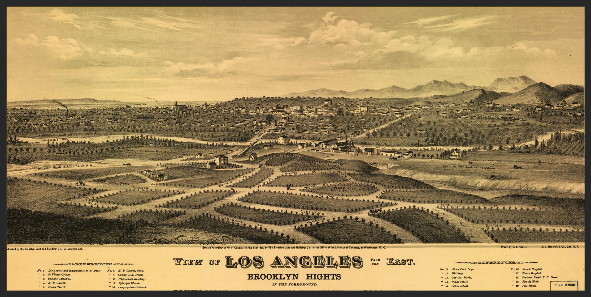 Los Angeles Basin,E.S. Glover - 1877