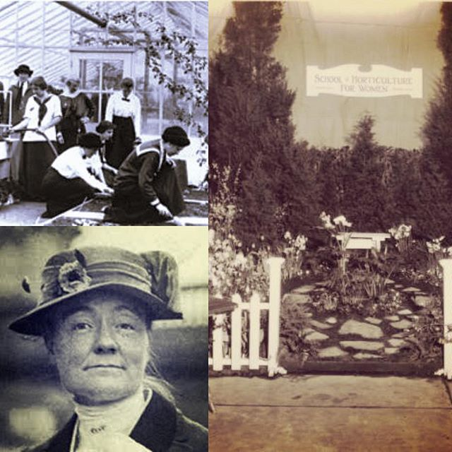 Meet Jane Bowne Haines. She grew up in a horticultural family and after attending Bryn Mawr and working a stint at the Library of Congress, came home to run the family nursery.  She founded the Garden Club of Philadelphia. In 1910, she purchased land and opened a horticultural college for women based on the hort colleges she saw in England. This was an opportunity for women to have careers beyond teaching, nursing, nannying, etc. and classes went beyond plant knowledge: bee keeping, canning, farm management, poultry keeping, carpentry, and soil science. Eventually, The Pennsylvania School of Horticulture merged with Temple University and continues to this day with landscape architecture and horticulture. #womenshistorymonth #womeninhorticulture #womeninlandscapearchitecture #businesswomen #womenwhofarm #womenwhogarden#landscapehistory #anythingyoucandoicandobetter