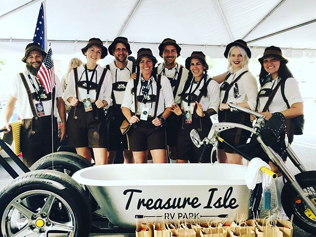 Meet the official 2019 Treasure Isle World Championship Running Of The Tubs Team. Check out our Custom Built Tub Trike. A big thank you to all who have worked to get us to this point. Join us tomorrow morning at 9am in front of the Arlington Hotel and cheer us on.