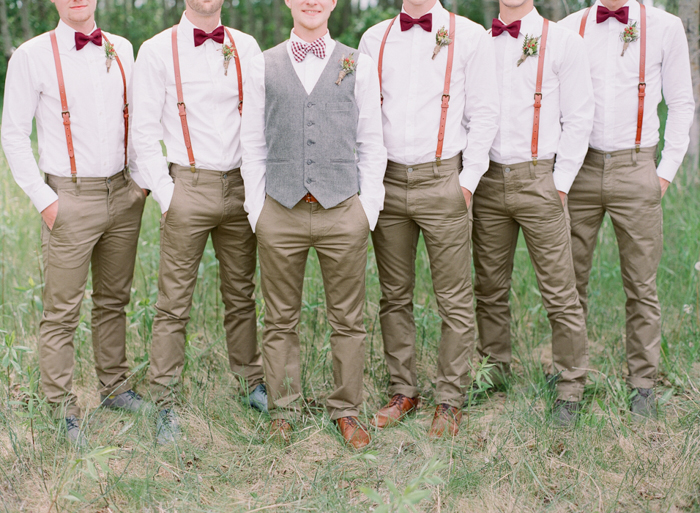 groomsmen in suspenders