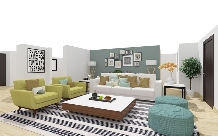 INTERACTIVE FLOOR PLANS - We can also provide you with interactive floor plans that allow the user to alter furniture, fixtures, paint colors, etc.