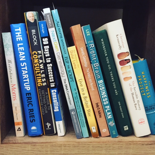 Here's a sneak peek into Brianne's bookshelf...