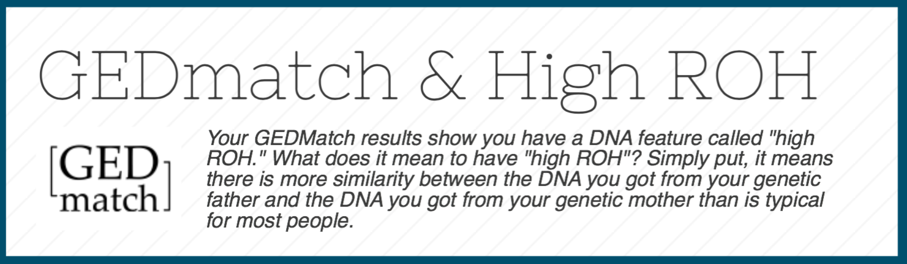 This is a snippet from the High ROH Infosheet. Read it in full  here .    **Note: this blog post is not in reference to the story that went out recently about husband/wife twins. You can read about my thoughts on that topic separately, here .