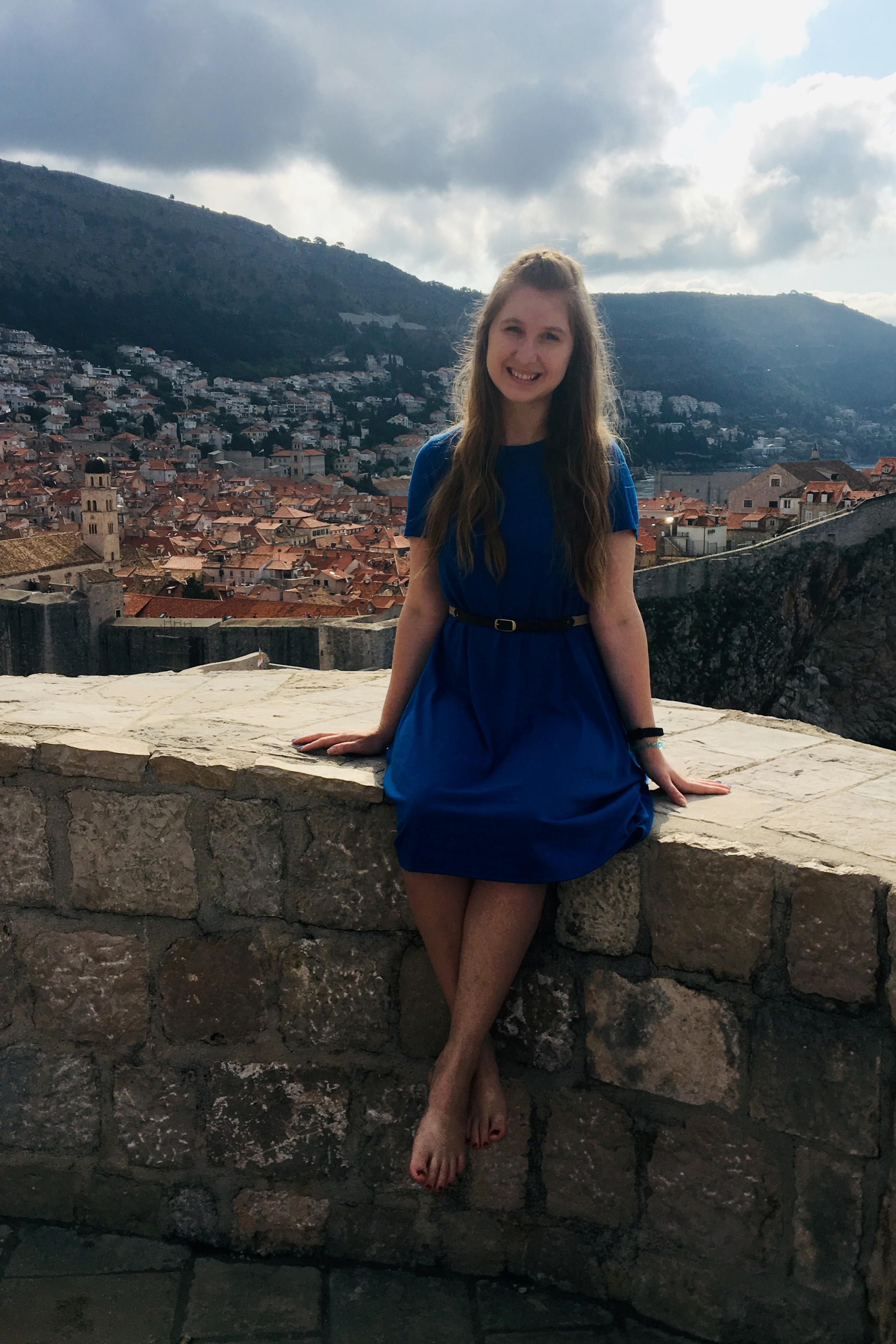 Sarah and an amazing view in Croatia!