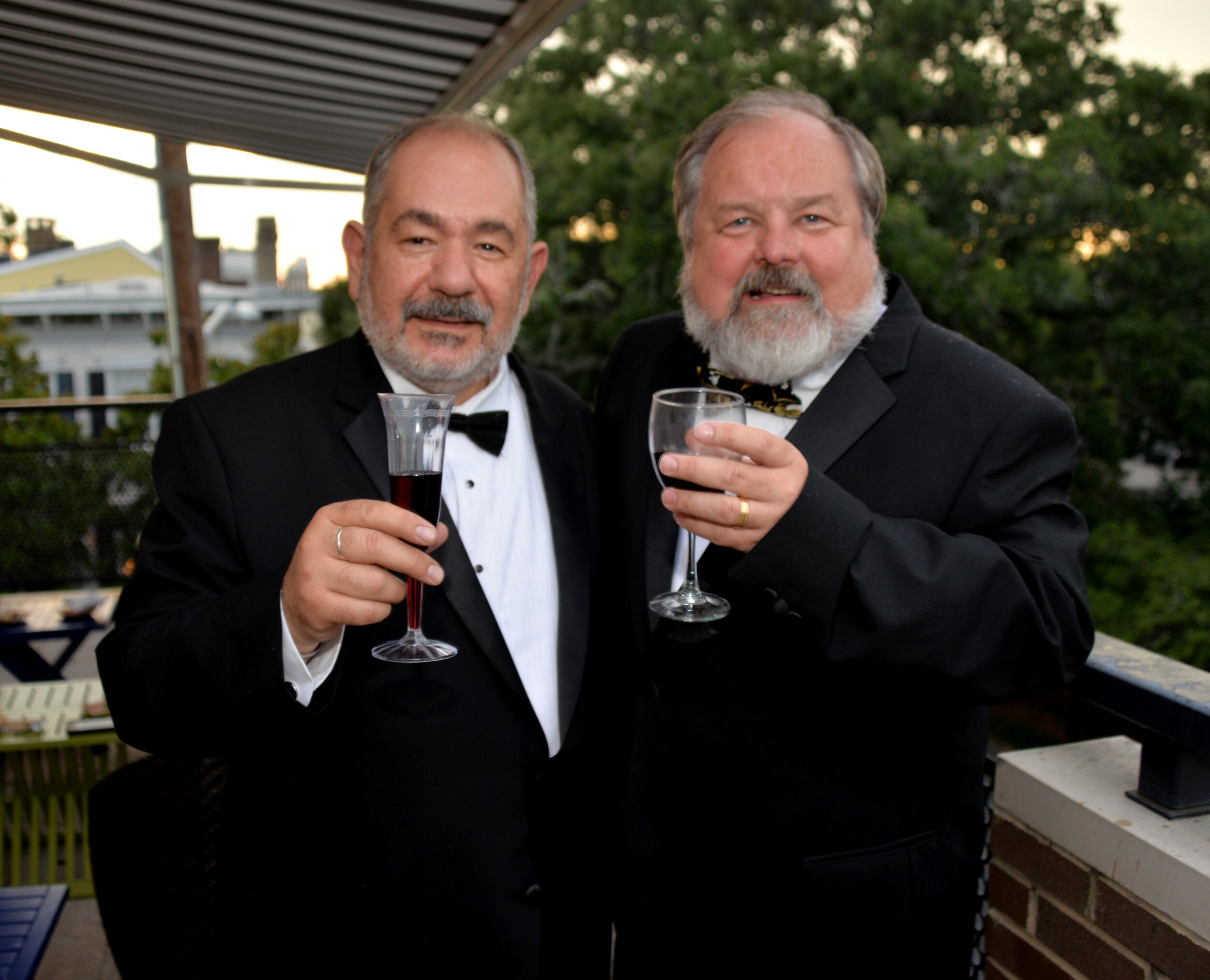 Richard and Andy at a friend's 20th anniversary vow renewal party in Savannah. Photo by Bunny Ware.