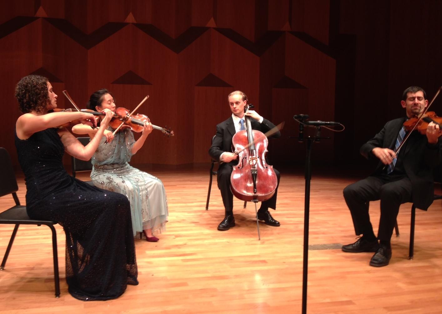 Chiara Quartet performing from memory in Seoul, South Korea.