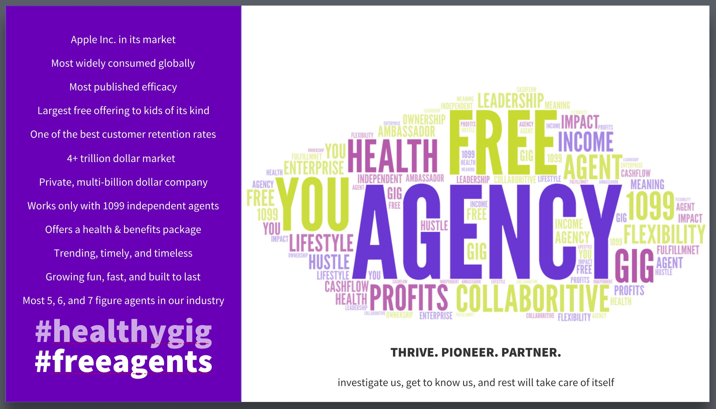 Be an ambassador, agent, or agency owner with us. #OwnIt