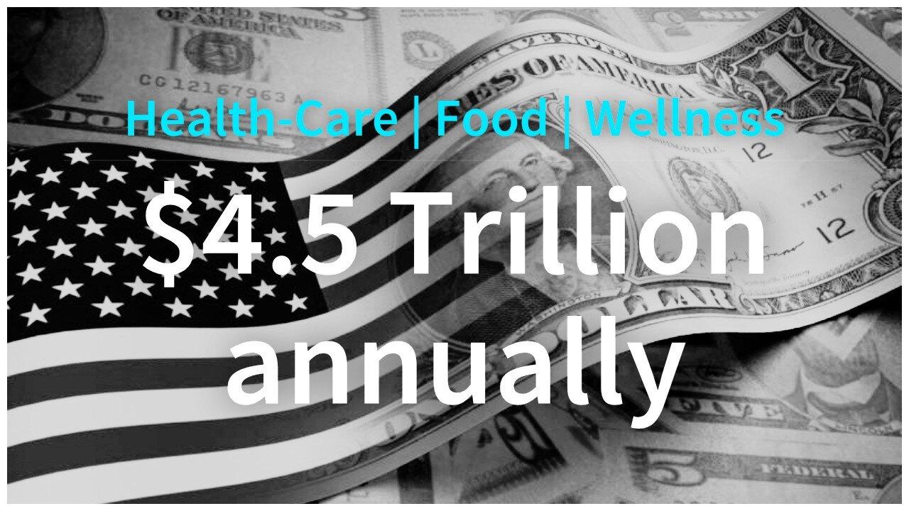 - #LEVERAGEWORK WITH AN ECONOMIC TAILWIND:HEALTHCARE: $2+ Trillion/yrFOOD: $1.5+ Trillion/yrWELLNESS: $1+ Trillion/yr$4.5 trillion U.S. ($9.5T globally) #BigEnoughPie?