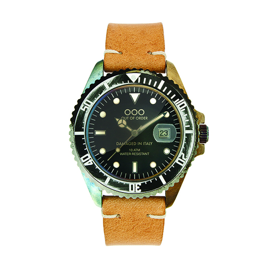 Out Of Order 40mm Quartz - Light Brown (Leather Band)