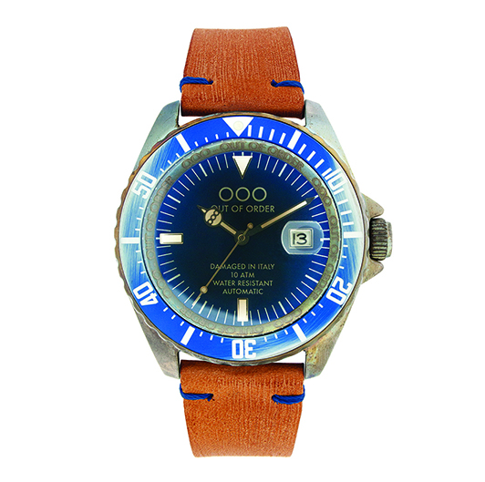 Out Of Order 44mm - Automatic Movement - Blue (Leather Band)