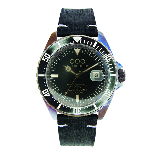 Out Of Order 44mm - Automatic Movement - Solid Black