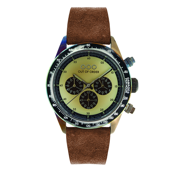 Out Of Order - 42mm Brown/Cream Chronograph