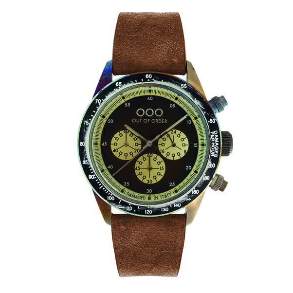 Out Of Order - 42mm Brown/Black Chronograph