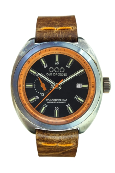 Out Of Order - Automatic Watch - Torpedine - Orange