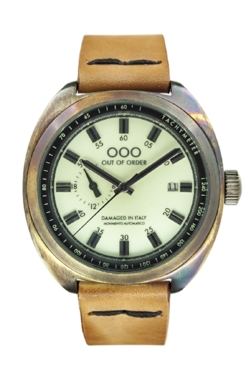 Out Of Order - Automatic Watch - Torpedine - Light Brown