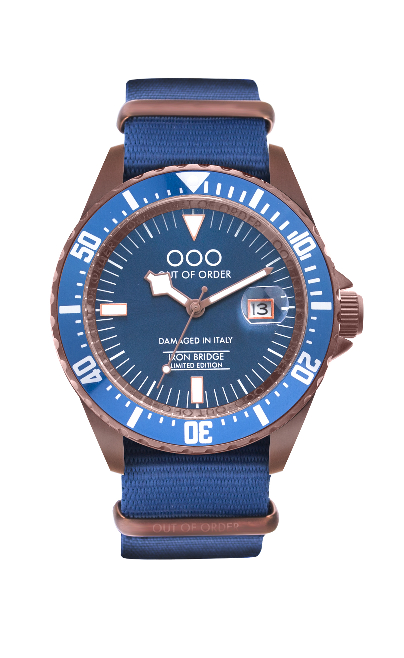 Limited Edition Out Of Order Watch with Blue Watch Band