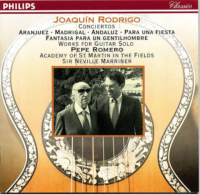 Joaquín Rodrigo: Conciertos ¨Aranjuez¨, ¨Madrigal¨, ¨Andaluz¨, ¨Para una fiesta¨, ¨Fantasía para un gentilhombre¨ (Academy of St. Martin-in-the-Fields, N. Marriner) Re-release as CD box set: Philips CD (set of 3) • Catalog no. 412 170-1
