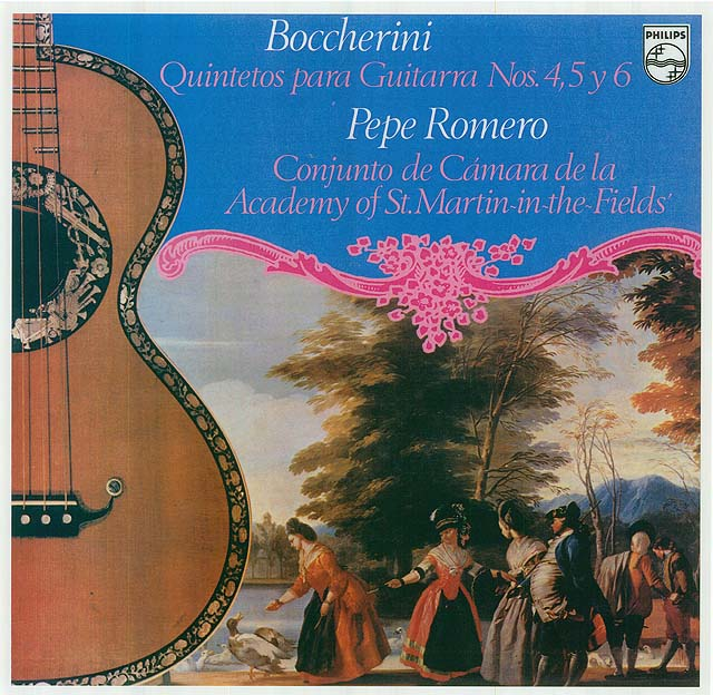 Boccherini Guitar Quintets Nos. 4,5 & 6 (Academy of St. Martin-in-the-Fields' Chamber Ensemble) Recorded 1978: Philips LP • Catalog no. 9500 621  |  Philips CD • Catalog no. 420 385-2