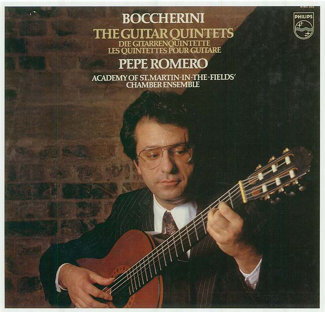 Boccherini: The Guitar Quintets (Pepe Romero, Academy of St. Martin-in-the-Fields' Chamber Ensemble)         Re-release box set: Philips LP (set of 3) • Catalog no. 6768 268