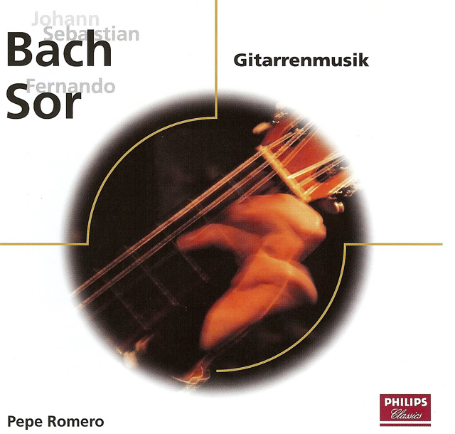 Guitarrenmusik: Bach, Sor Pepe Romero Re-release on CD: Philips Classics Eloquence Label • Catalog no. 470 363-2