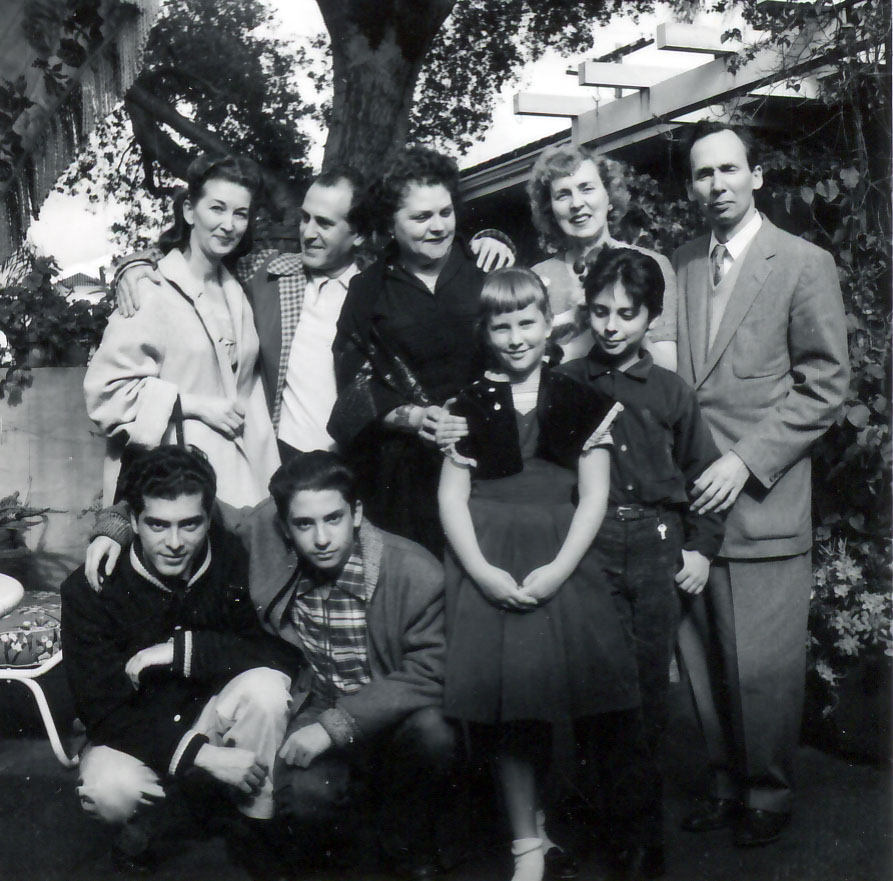 With friends in Santa Barbara 1958