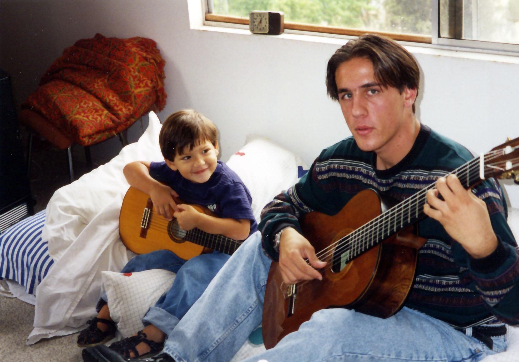 Grandson Bernardo and Pepe Jr. 1996