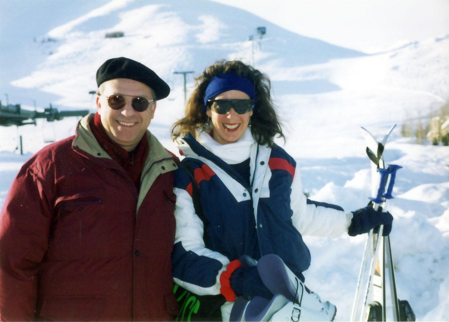 Pepe with Carissa, Sun Valley, Idaho 1995
