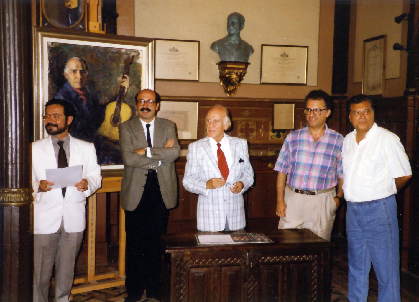 Celedonio honored by his city of Málaga Hijo Predilecto con la Medalla de Oro