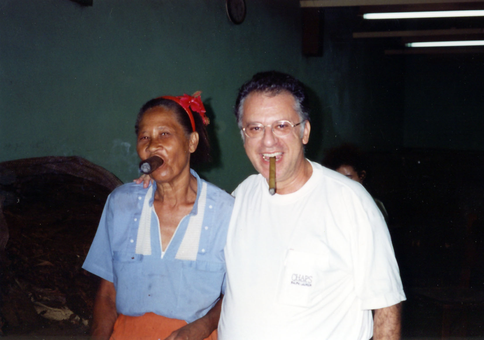 Smoking at the Partagas Factory in Habana