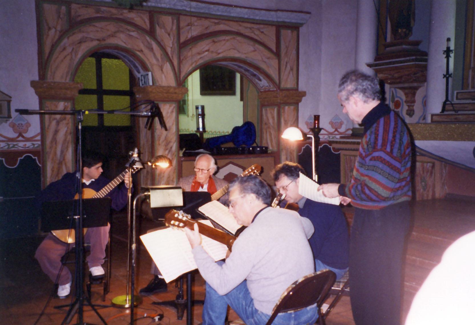 Philips recording Romero quartet (with Celino, Celedonio, Pepe, Celin)