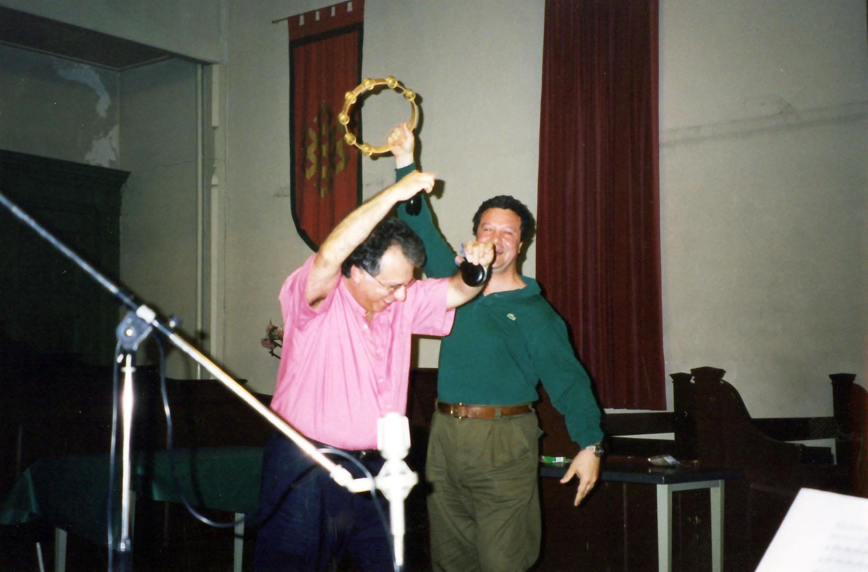 Pepe and Massimo Paris adding the percussion to Boccherini ¨Fandango¨