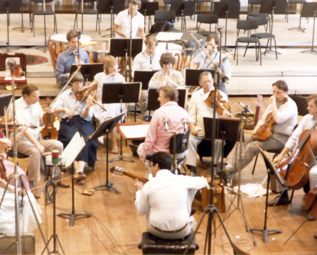 Recording with Neville Marriner and St. Martin-in-the-fields - guitar concerto by Villa Lobos
