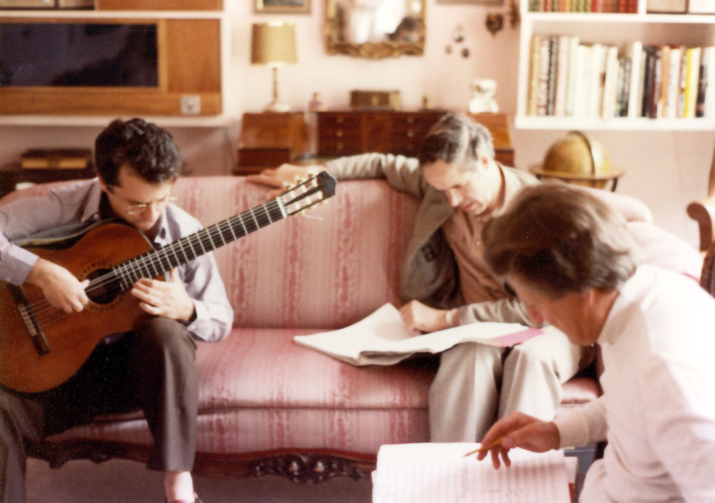 Rehearsing with Neville Marriner the ¨Concierto para una fiesta¨  (with producer Wilhelm Hellweg)