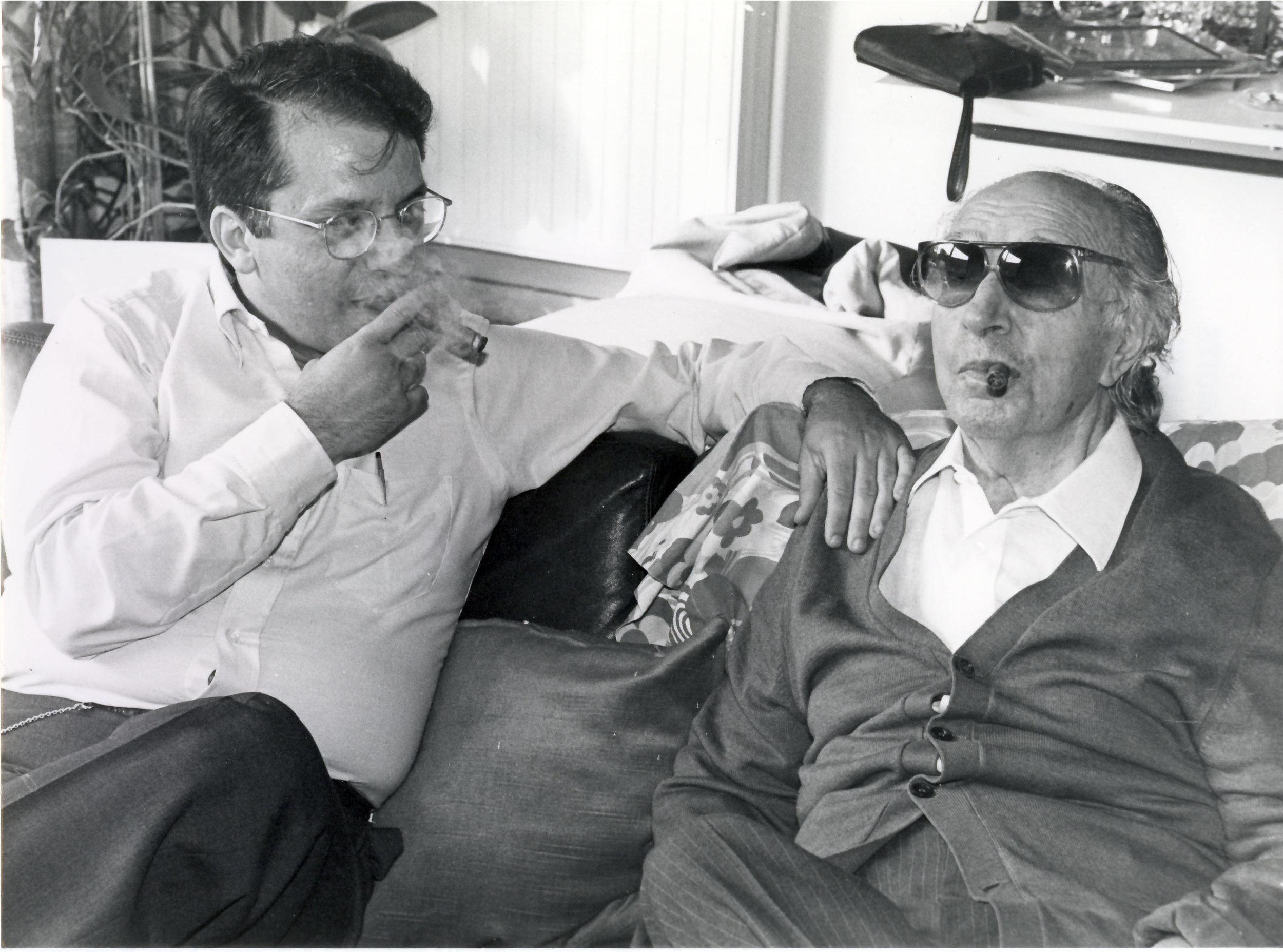 Smoking ¨habanos¨ with Joaquin Rodrigo