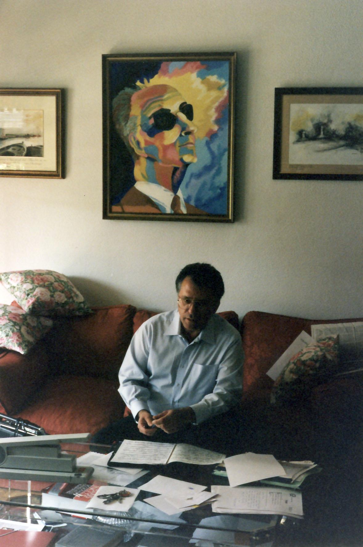 Editing ¨Invocacion y danza¨ in Rodrigo's home