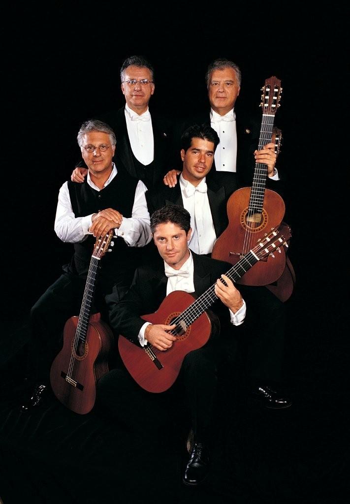 (clockwise) Angel, Pepe, Celin, Celino and Lito Romero