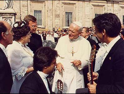 With Pope John Paul II in Vatican City