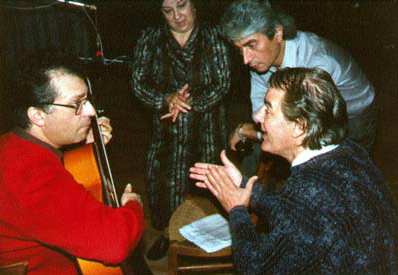 Recording with flamenco dancers Maria Magdalena  and Paco Romero and flamenco singer, Chano Lobato.