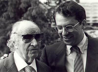 Joaquin Rodrigo and Pepe discussing the upcoming premiere of  ¨Concierto para una fiesta.¨
